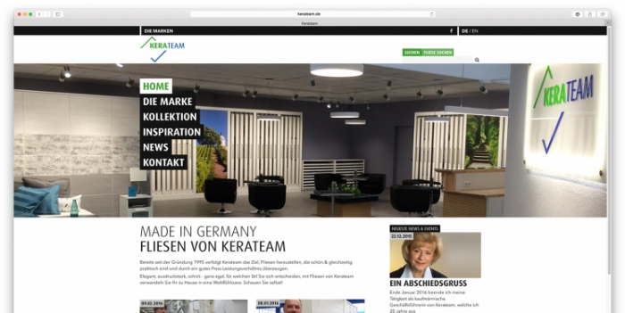Launch of the new Kerateam website